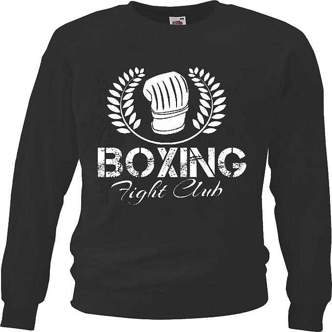 Sudaderas Suéter Lucha Club de Boxeo del Club del Boxeo Guantes de Boxeo Caja DE Rocky Stallone Sparring Boxeador in Negro: Amazon.es: Ropa y accesorios
