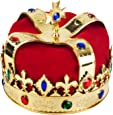 Funny Party Hats Name: Royal Jeweled King's Crown - Costume Accessory