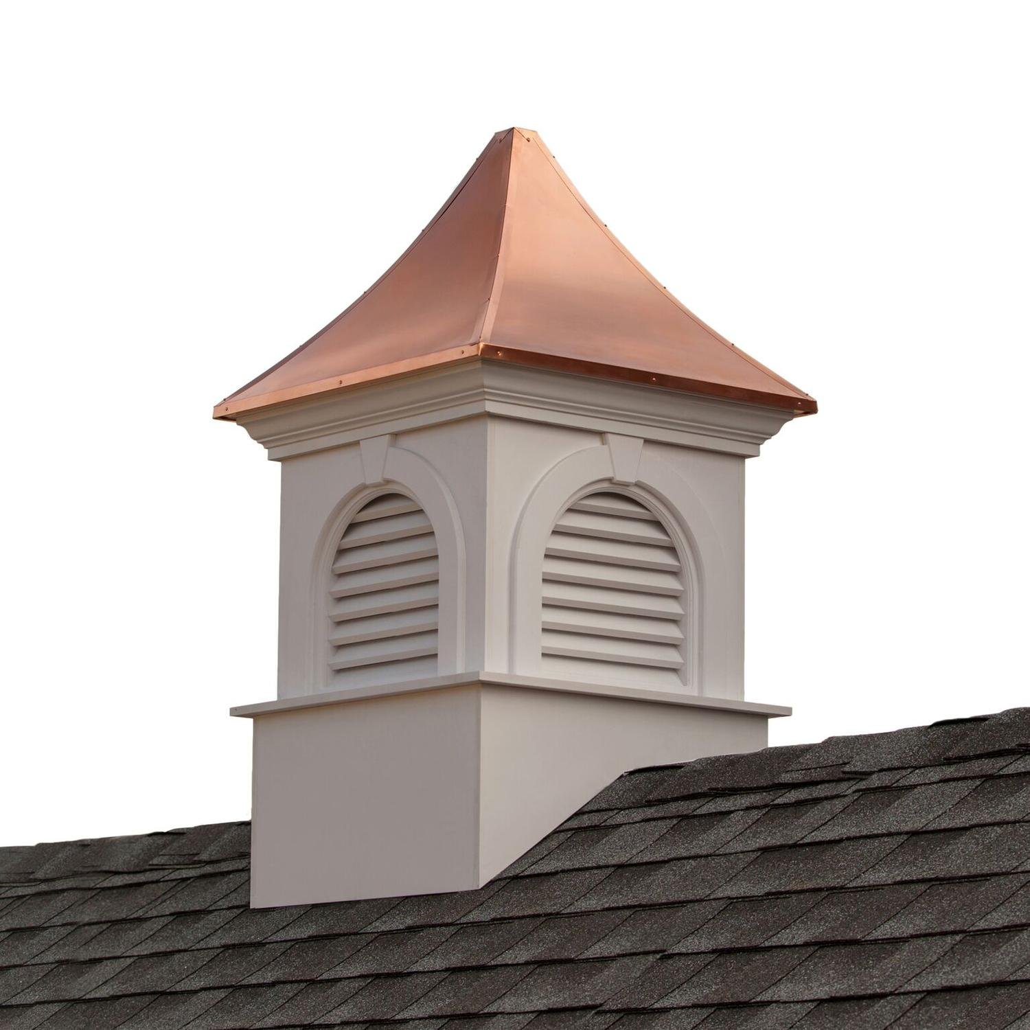 58'' Beautiful Handcrafted Smithsonian Newington Vinyl Cupola with Copper Roof
