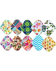 10PCS 8 Inch Light Reusable Washable Bamboo Cloth Mama Menstrual Sanitary Pad Panty Liner