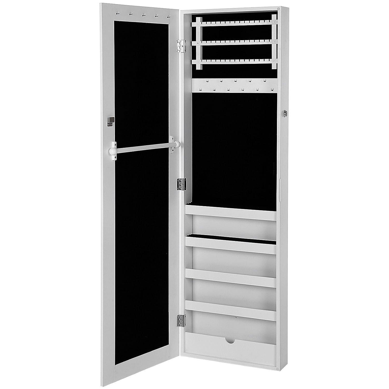 Songmics portagioie armadio specchiera organizzatore per - Specchio per armadio ...