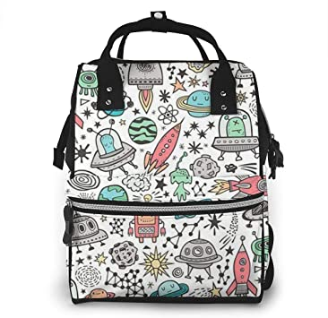Mochila para pañales Diaper Bag Backpack Space Galaxy Universe Doodle Multifunction Large Capacity Travel Back Pack Baby Nappy Bags Organizer Waterproof and Durable: Amazon.es: Equipaje