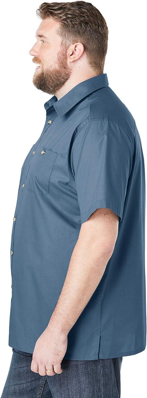 Mens Kingsize Casual Oxford Shirt Pocket Short Sleeve Button Big Size 2-6XL 63A