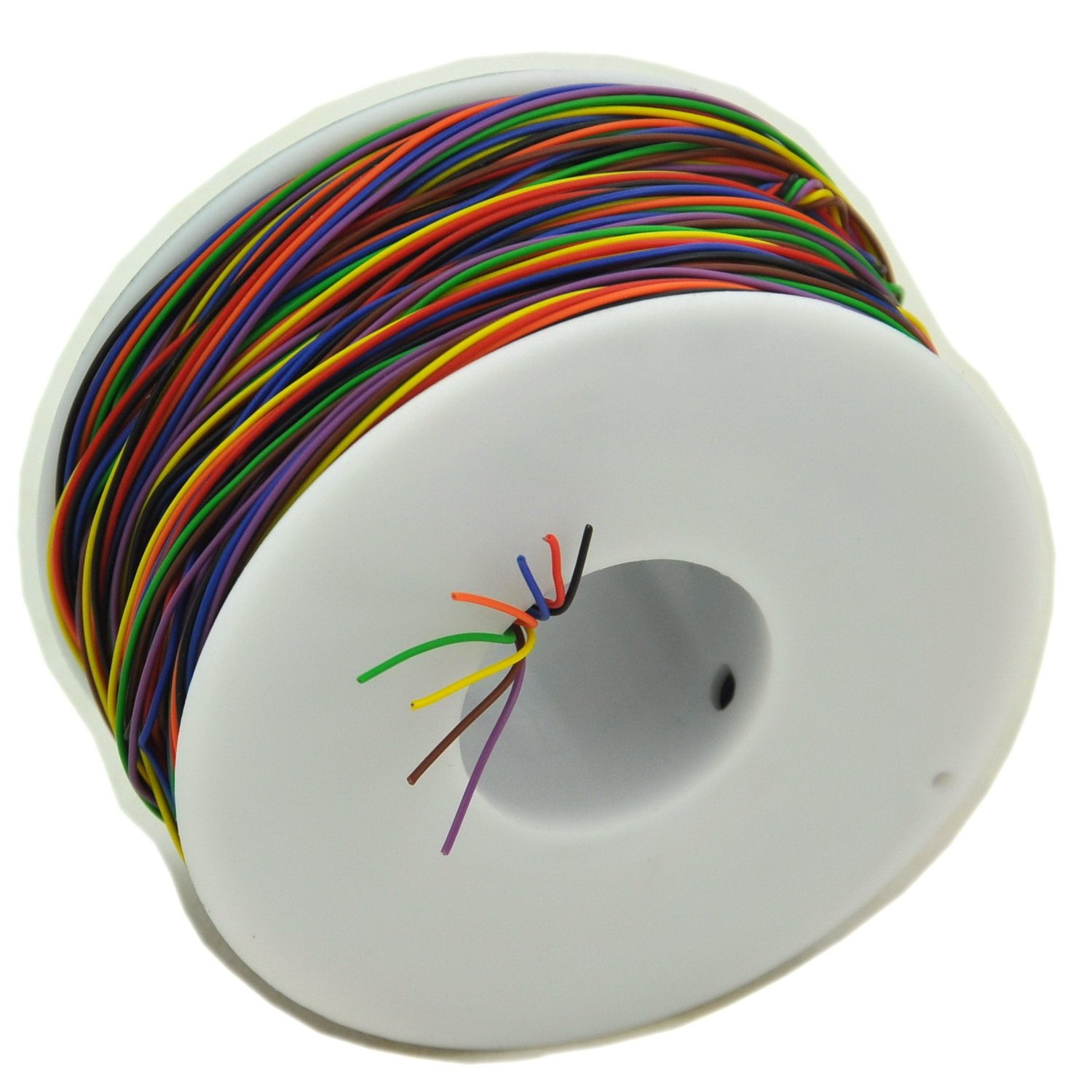 Electronics-Salon 8 Colors 30AWG Insulation Test Wrapping Wire ...