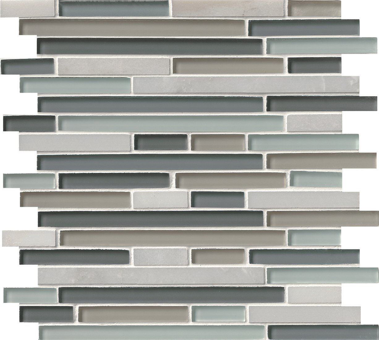 M S International Keystone Blend Interlocking 12 In. X 12 In. X 8mm Glass Stone Mesh-Mounted Mosaic Tile, (10 sq. ft., 10 pieces per case)