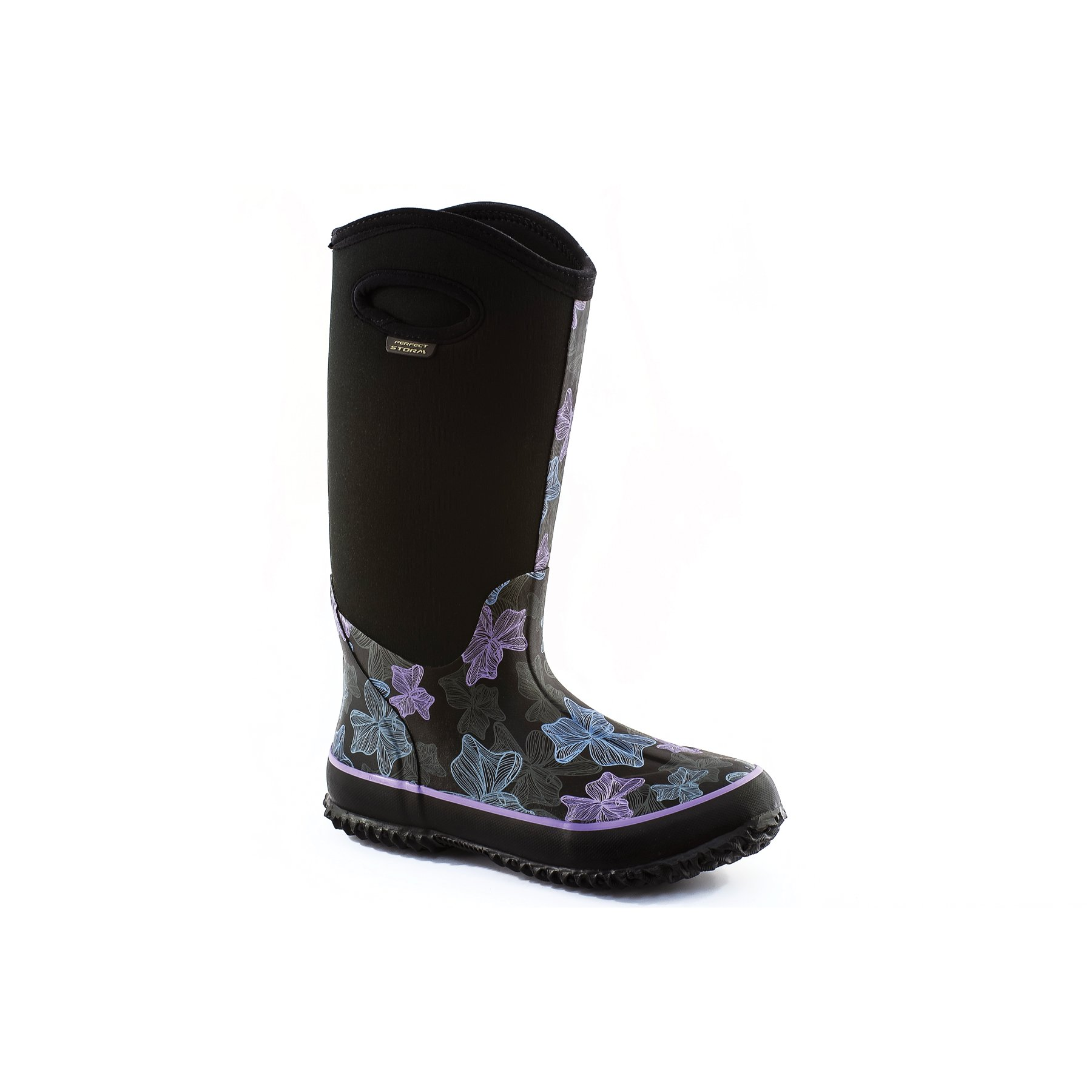 Perfect Storm Womens Cloud HIGH PASTELEGANCE Boot, Black/Purple, 11