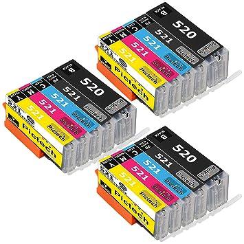 Pictech® Compatible cartuchos de tinta reemplazo para Canon PGI ...
