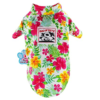 5509b2b1 Stock Show Pet Hawaiian Shirt, NewStyle Summer Beach Vest Short Sleeve Pet  Clothes Dog Top Floral T-Shirt Hawaiian Tops Dog Jackets Outfits for Small  Dogs ...