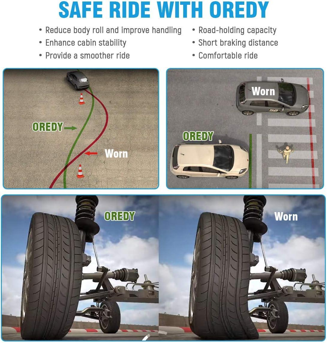 OREDY Front Struts 2PCS Driver and Passenger Side Complete Struts Shocks Coil Spring Assembly 11373 11374 827213 827214 Suspension Struts