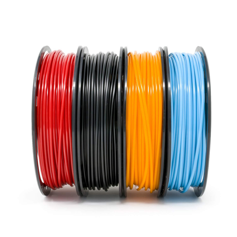 Black Orange Red Gizmo Dorks Low Odor ABS 3D Printer Filament 1.75mm 200g Sample Pack Sky Blue