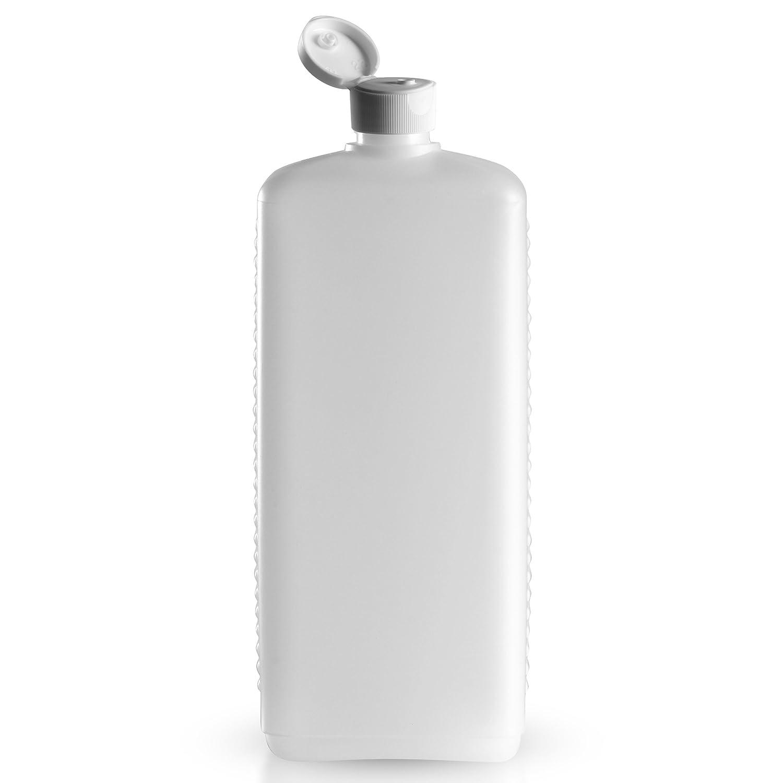 48 x 1000ml Lotionsflasche eckig weiss aus PE inkl. Klappscharnierverschluss weiss *** Lotionsflaschen, Cremeflasche, Plastikflasche, Kunststoffflasche, Plastikflaschen, Kunststoffflaschen, Cremeflaschen ***