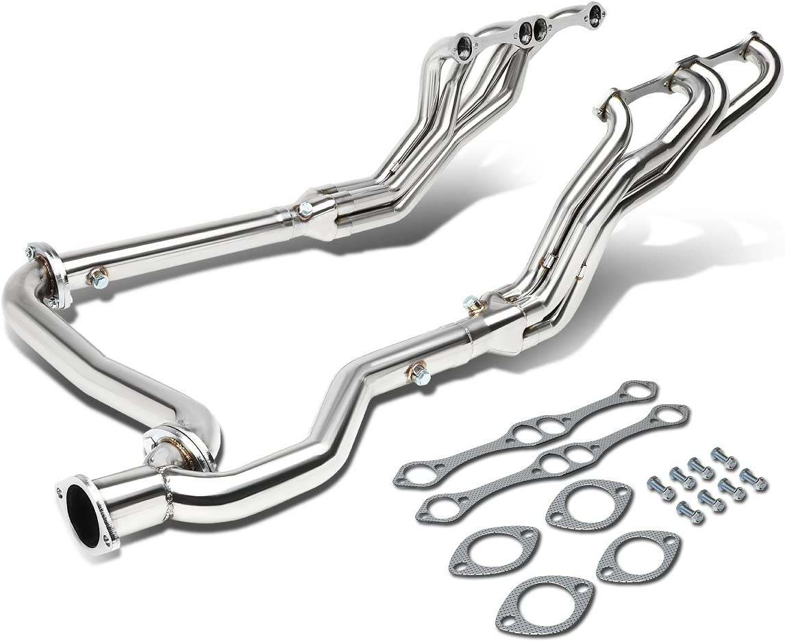 Replacement for 92-00 GMC/Chevy C/K Series GMT400 High Performance 4-2-1 Design Stainless Steel Exhaust Header with Y-Pipe