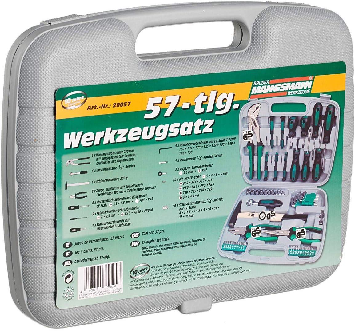 Mannesmann - M29057 - Juego de herramientas 57 piezas: Amazon.es ...