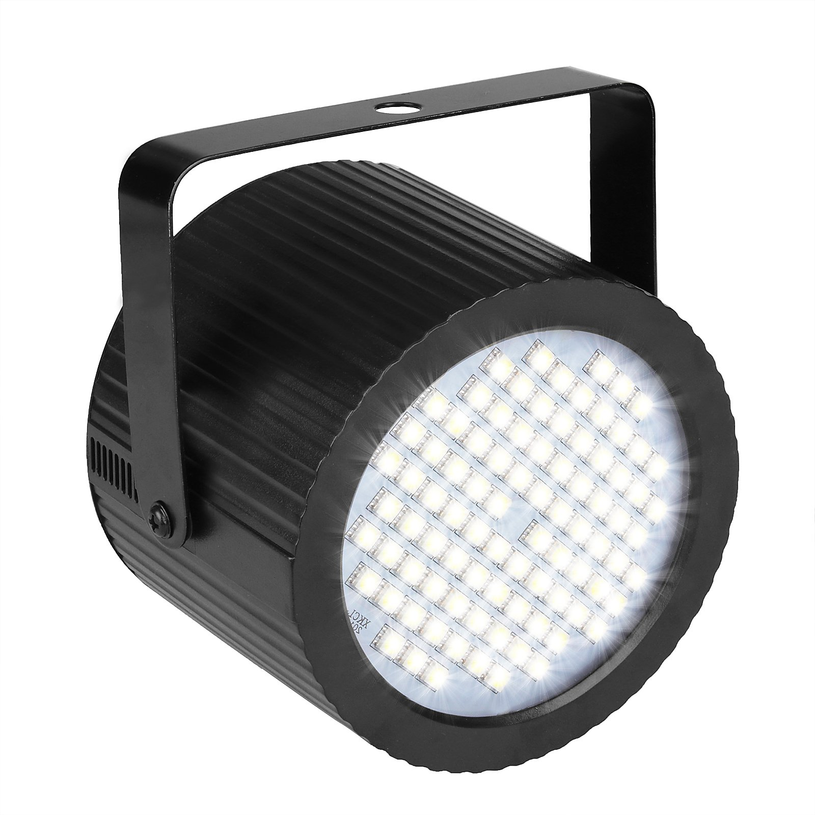 GBGS Strobe Light for Parties Sound-Activated Flash Rate Adjustable 88 White LED 20W Super Bright Can Shape Halloween Christmas Birthday Party Stage Flash Lighting by GBGS