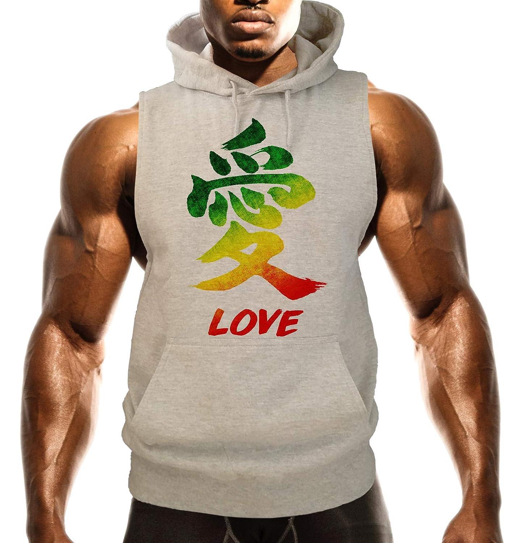 Mens Rasta Love B1452 Gray Fleece Vest Hoodie