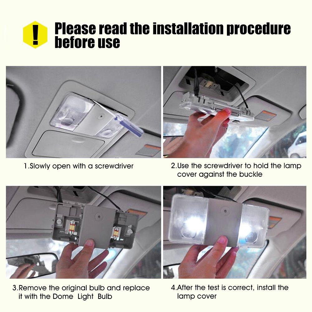 12mm Audew 31mm Festoon Car Interior LED Dome Light Bulb 6 Pack Boot Light Bar//Kit Bulb For Car//Van//Sedan//Truck 31