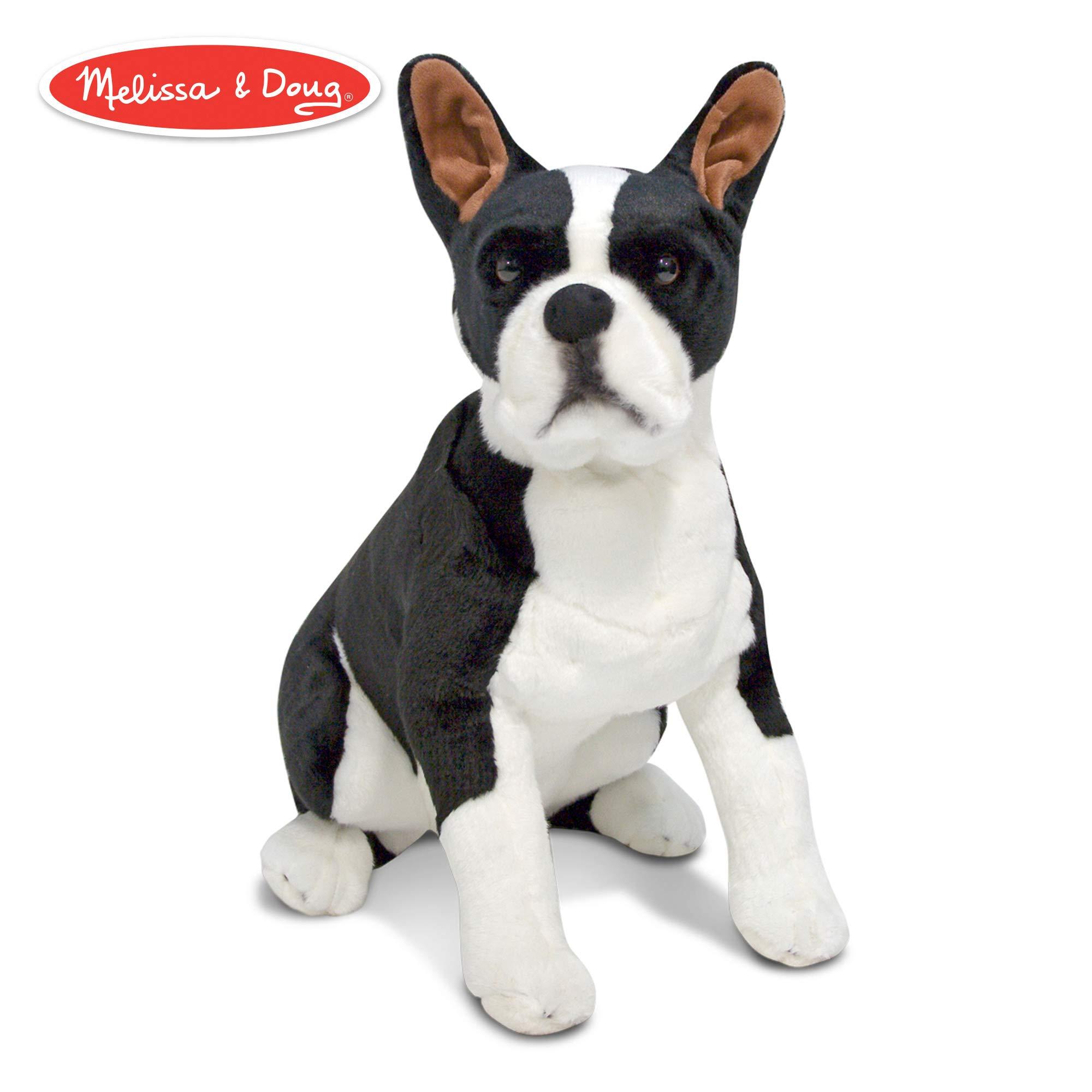 Melissa & Doug Giant Boston Terrier - Lifelike Stuffed Animal Dog by Melissa & Doug
