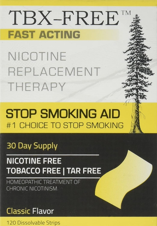 TBX-Free Dejar de fumar tira Oral ayuda 120 tiras mentol: Amazon.es: Salud y cuidado personal