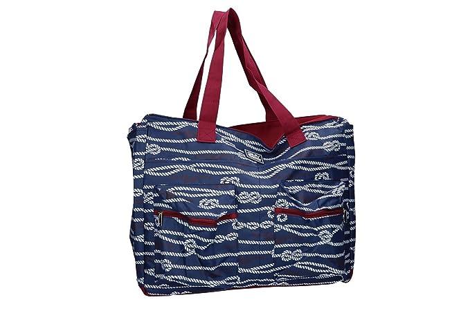 GIANMARCO VENTURI Borsa mare piscina donna blu a spalla apertura zip VV210   Amazon.it  Abbigliamento 09975038ac3