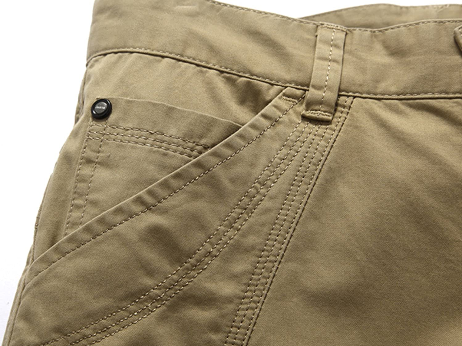 Youhan Mens Casual Cotton Summer Flat Front Shorts