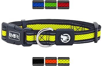 f/ür kleine /& gro/ße Hunde DDOXX Hundehalsband Air Mesh Katzen-Halsband viele Farben /& Gr/ö/ßen gepolstert Hunde-Halsb/änder Halsband Hund Katze Welpe reflektierend verstellbar