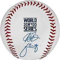 $249 » Austin Barnes and Julio Urias Los Angeles Dodgers 2020 MLB World Series Champions Autographed World Series Logo Baseball - Autographed…