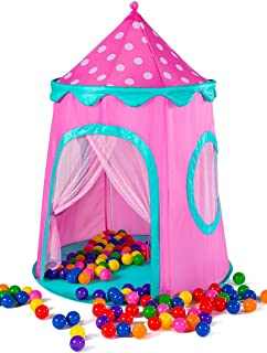 Kids Tent Glitter Fairy Princess Castle Pop Up Tent Play Tents Indoor Outdoor Tent Great Game  sc 1 st  Amazon.com & Amazon.com: Kids Tent Fun Toss It Game Zone 3-in-1 Pop Up Tent ...