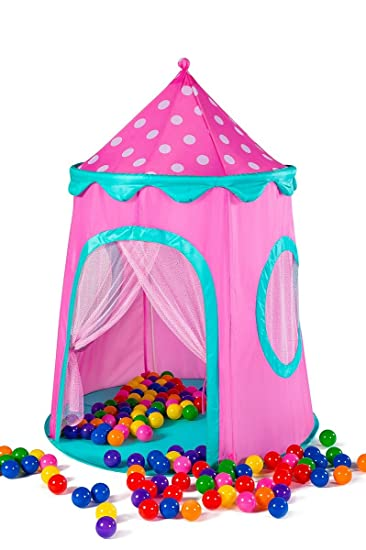 Kids Tent Glitter Fairy Princess Castle Pop Up Tent Play Tents Indoor Outdoor Tent Great Game  sc 1 st  Amazon.com : princess castle pop up tent - memphite.com