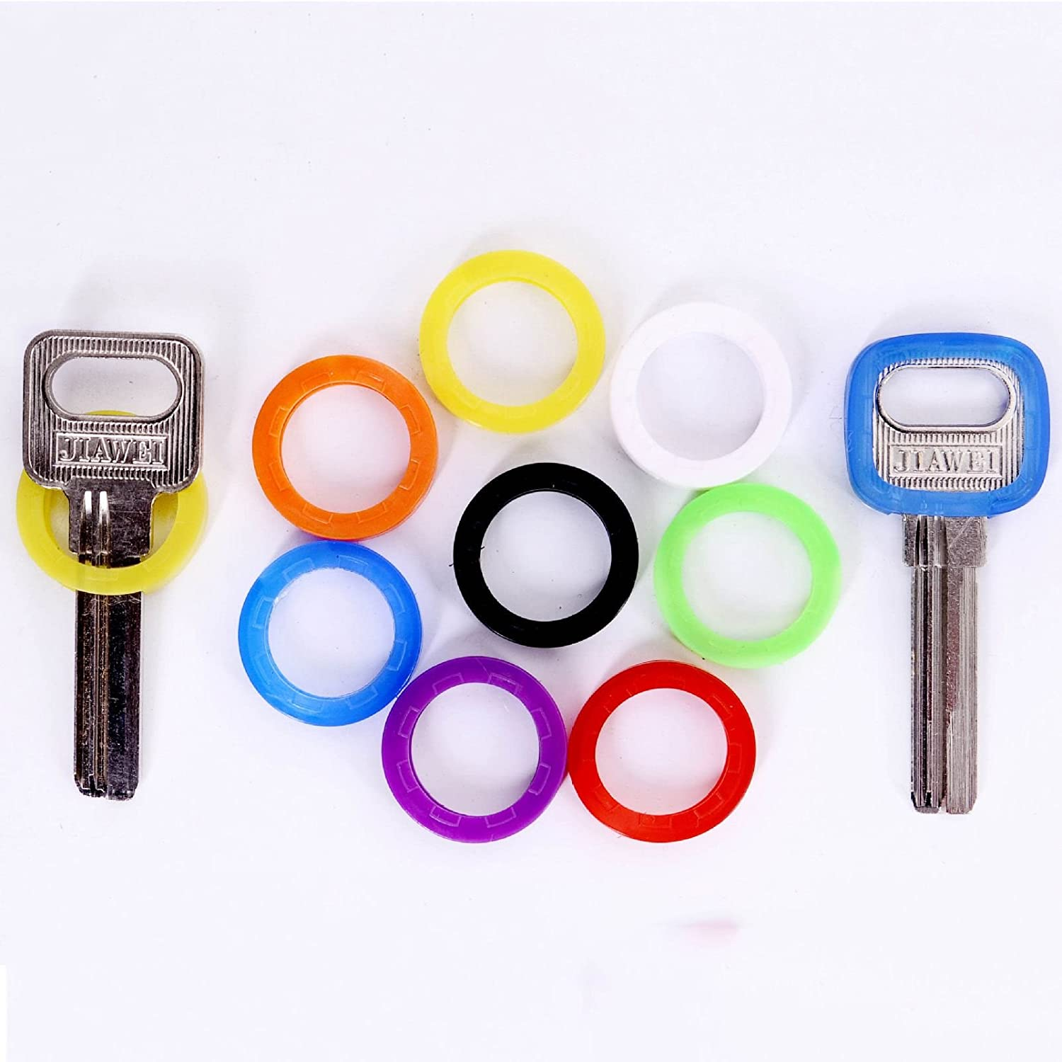 Bright Colors Hollow Silicone Key Cap Covers Topper Keyring With Bly Braille