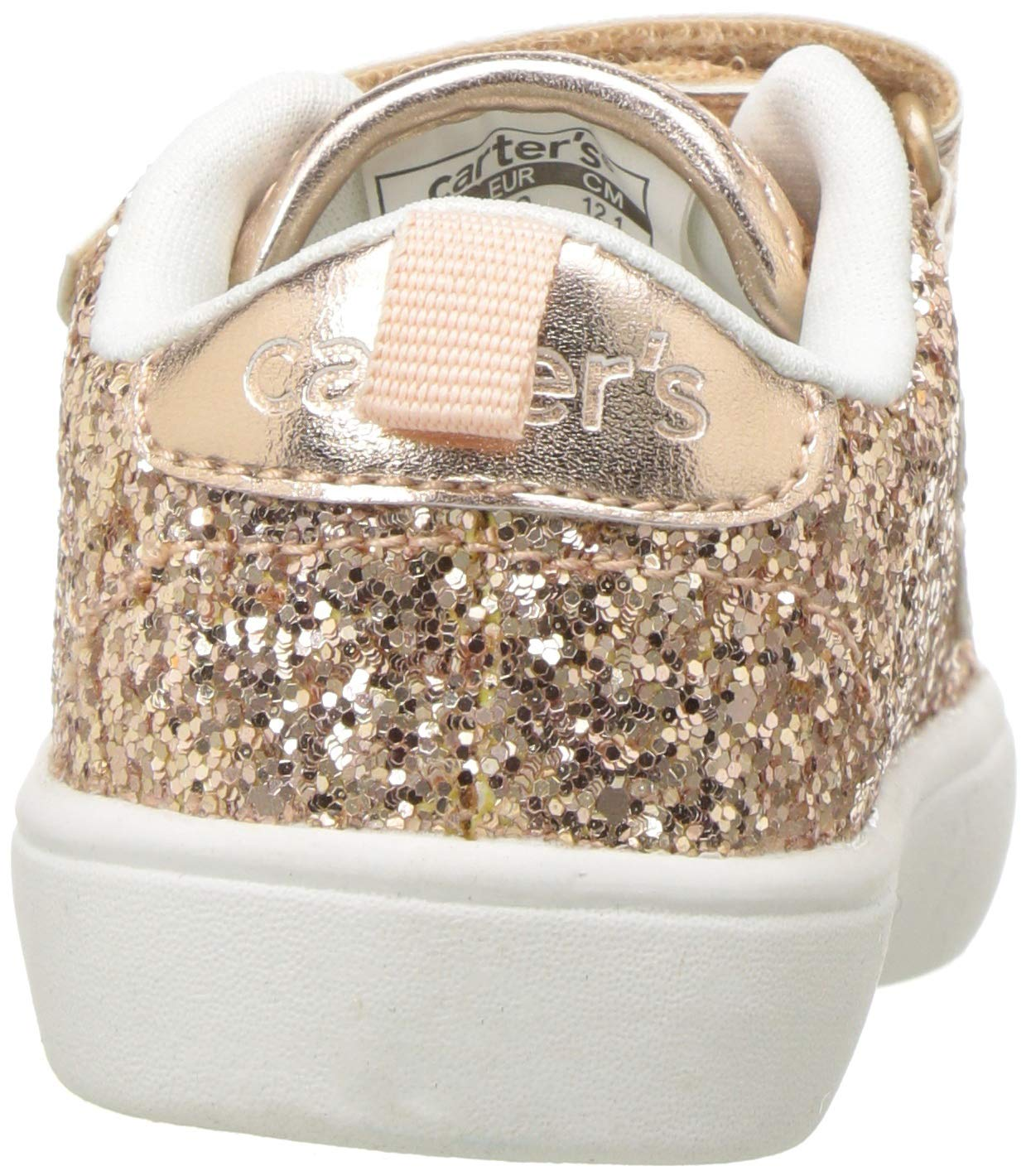 carter's Girls' Andee2 Rosegold Casual Sneaker, Rose Gold, 11 M US Little Kid by Carter's (Image #2)