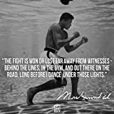 """Muhammad Ali 's (Quotes) Get Motivated Poster 12 x 18 """""""