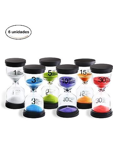 JUNDUN Reloj de Arena Temporizador de Arena en 6 Colores 1/3 / 5/