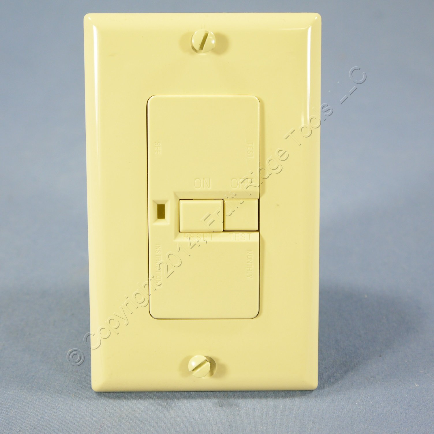 Cooper Wiring Commercial Specification Grade Ivory Blank Face Motor Control Switch GFCI 20A 125V XDGF20V