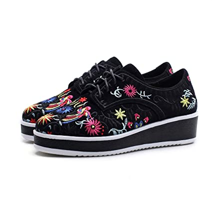 e1dab9b271ced Amazon.com: YXB Women's Casual Shoes Spring New Platform Shoes Round ...
