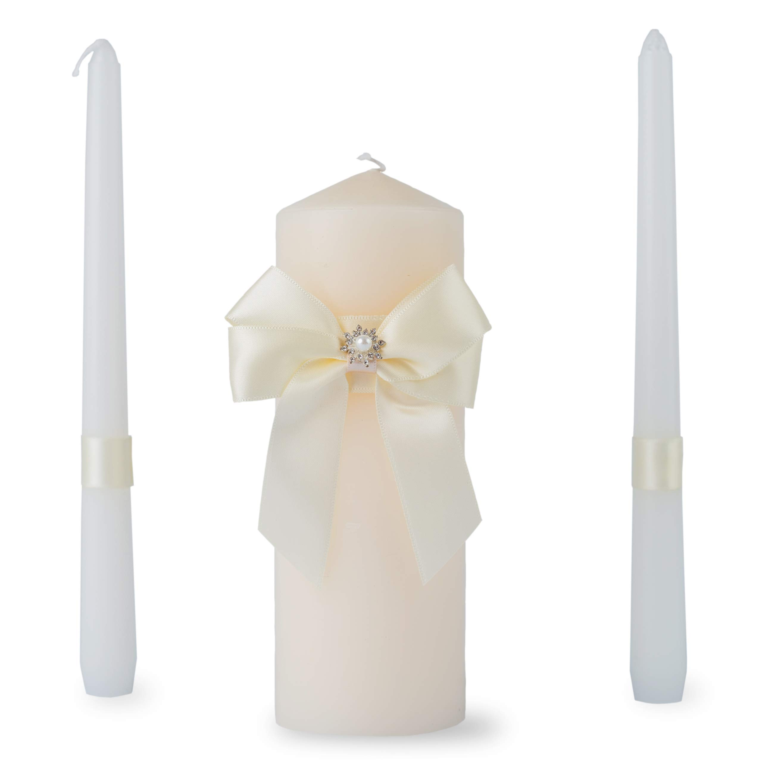 Customoffi Unity Candle Set with Box - Best for Reception, Weddings, Holidays, Romantic Dinners - Makes a Great Gift and Fits Any Ceremony