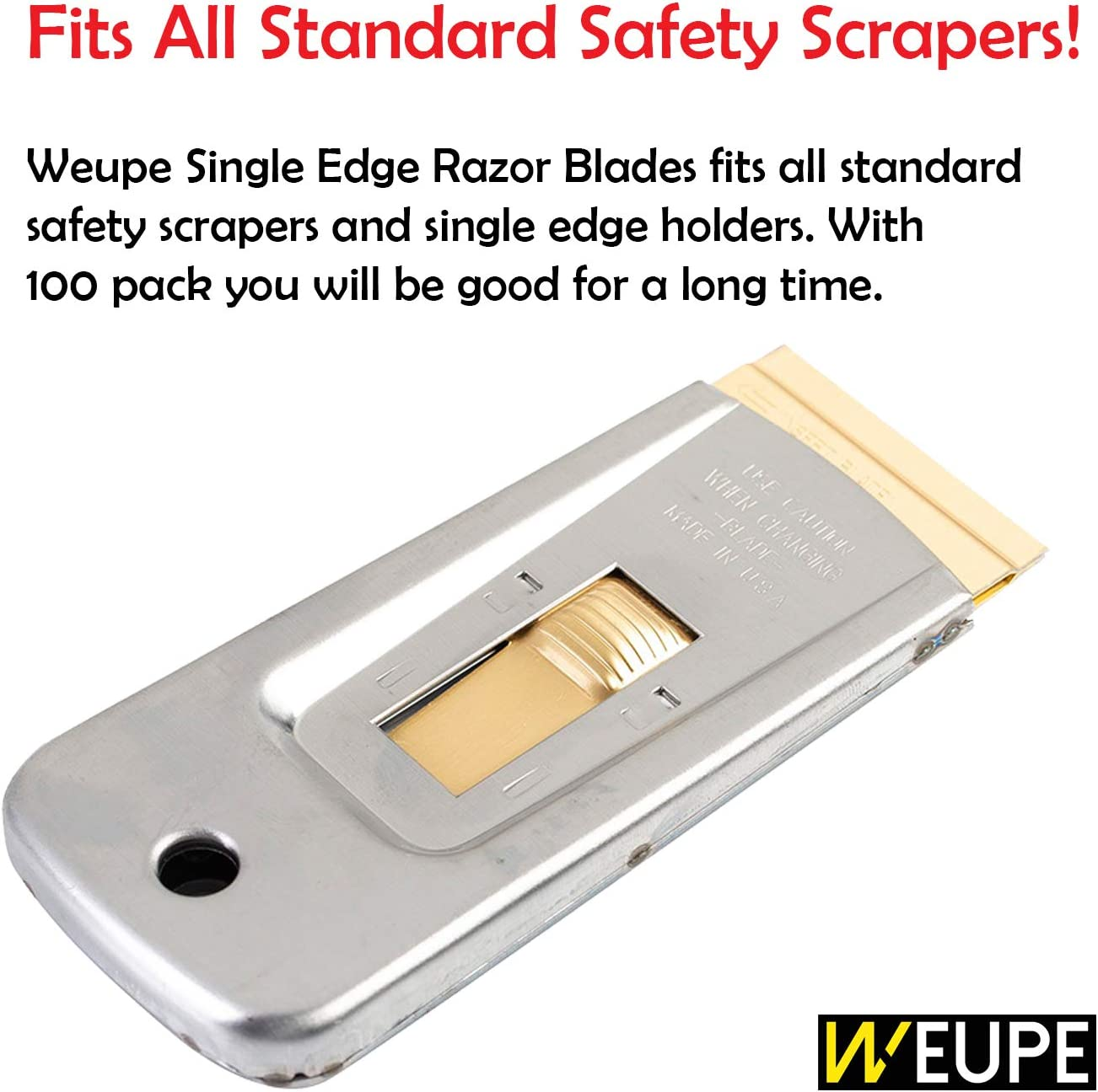 10 Piece Single Edge Razor Blades T/&E Tools 8521