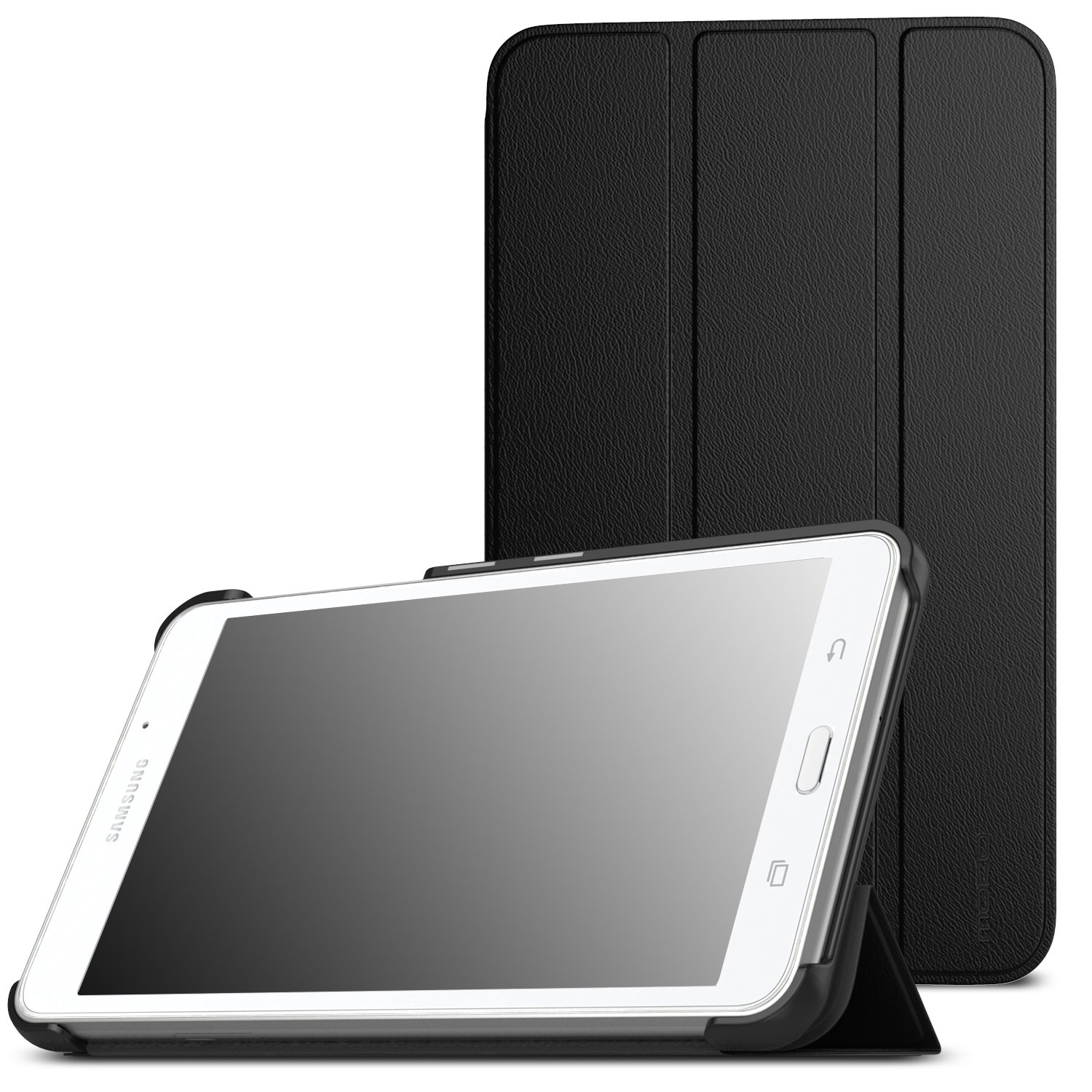 MoKo Samsung Galaxy Tab A 7.0 Case - Ultra Lightweight Slim-Shell Stand Cover Case for Samsung Galaxy Tab A 7.0 Inch Tablet 2016 Release(SM-T280 / SM-T285 Version ONLY), Black