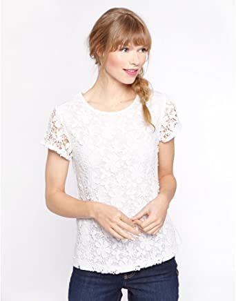 0a6d1e907c7ab3 Joules Hetty, Women's Lace Front Top: Amazon.co.uk: Clothing