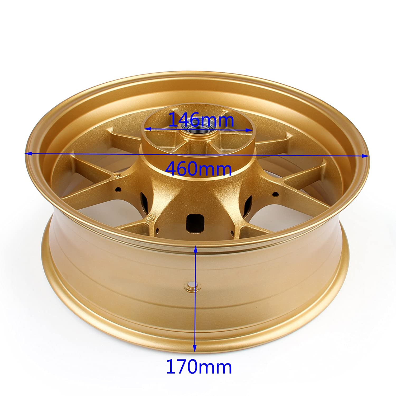"Amazon Areyourshop Rear Wheel Rim 17""x 6"" For Honda CBR1000RR"
