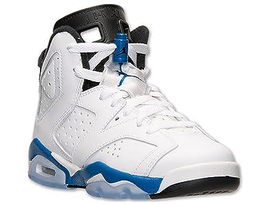 more photos 6cfcd 4e701 Nike Air Jordan 6 Retro BG Chaussures garçon, (Blanc Sport Bleu-Noir