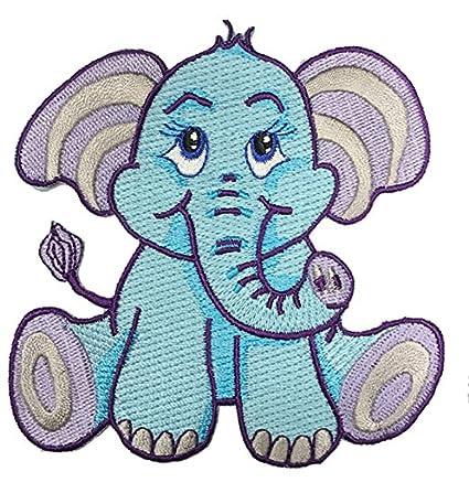 da59acfbf Amazon.com: Cute Lil' Baby Elephant Iron On Patch: Home & Kitchen