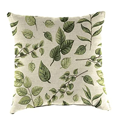 Plow & Hearth Polyester Classic Throw Pillow - 22 sq. x 8 Leaves : Garden & Outdoor