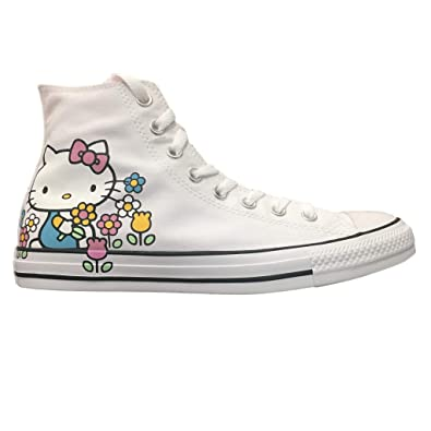 ad47cb41b24ba Converse Chuck Taylor All Star Lo Hello Kitty Fashion Sneakers (8.5 M US  Women / 6.5 M US Men, White/Pink/White)