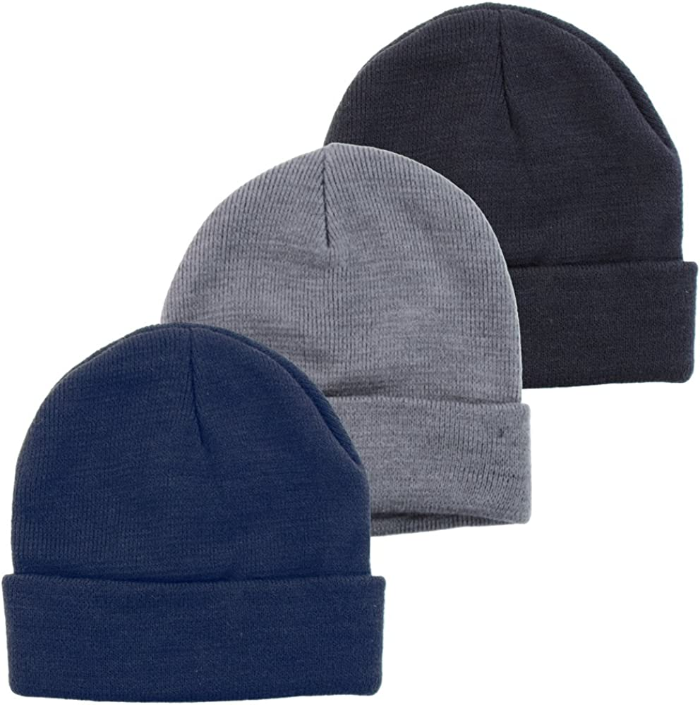 Byos Unisex Winter Warm Ribbed Beanie Fisherman Knit Ski Hat In Solid Color 3 Pack Hats At Amazon Women S Clothing Store