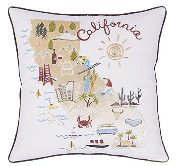 Amazon.com: DecorHouzz, fundas de almohada, bordadas con ...