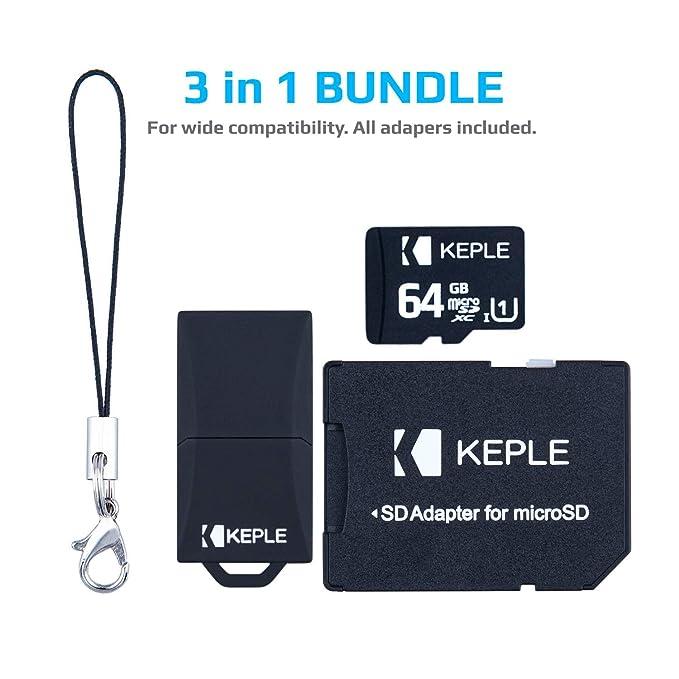 Tarjeta de Memoria Micro SD da 64 GB | MicroSD Class 10 Compatible con Huawei P8 / Lite, P9, P20, 7X, 7C, 7A, Y3, Y5, Y6, Y7,Y9 P Smart, Honor 9 Lite, ...