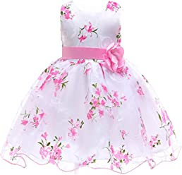 bf5f6579 Berngi Summer Kids Clothes Baby Girls Flower Princess Dress for Wedding Party  Toddler Girl Children Clothing