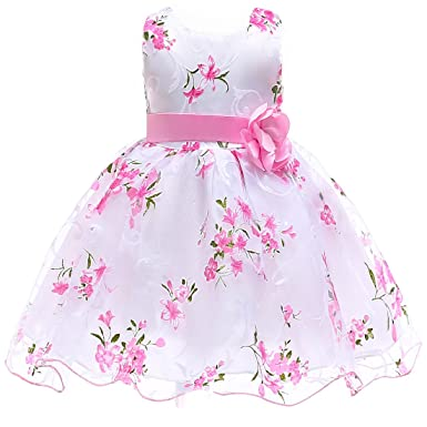 cda17dc8c3d Berngi Summer Kids Clothes Baby Girls Flower Princess Dress for Wedding  Party Toddler Girl Children Clothing