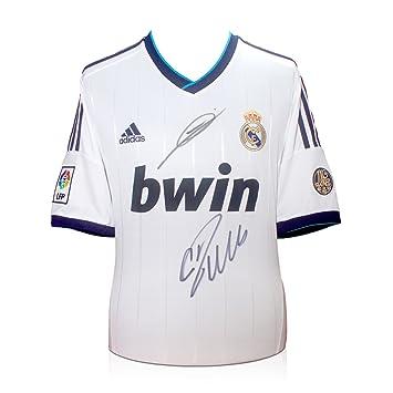 Cristiano Ronaldo y Zinedine Zidane Firmado camiseta de fútbol de Real Madrid
