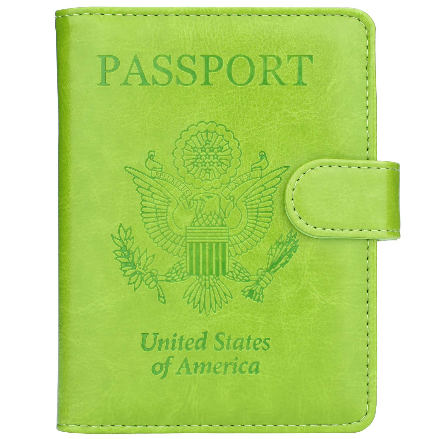 f4a70e604 GDTK Leather Passport Holder Cover Case RFID Blocking Travel Wallet product  image